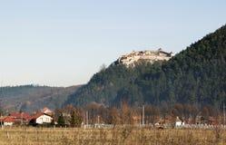 Rasnov城堡看法  免版税库存照片
