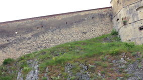 Rasnov城堡,一罗马尼亚` s多数被参观的城堡 股票录像