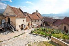 Rasnov城堡,在Brasov附近,罗马尼亚 免版税库存照片