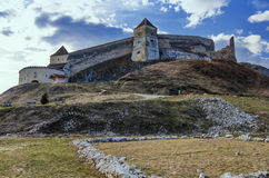 Rasnov城堡,罗马尼亚 图库摄影