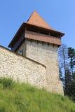 Rasnov城堡(前门) 免版税库存图片