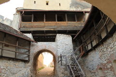 Rasnov城堡(墙壁) 库存照片