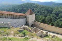 Rasnov城堡(庭院) 库存图片