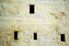 Rasnov堡垒墙壁细节  图库摄影