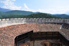 从Rasnov堡垒的看法 库存图片