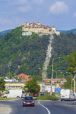 Rasnov堡垒,特兰西瓦尼亚罗马尼亚 免版税库存照片