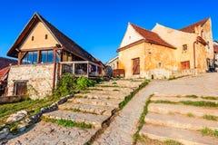 Rasnov堡垒,特兰西瓦尼亚,罗马尼亚 图库摄影