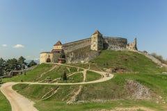 Rasnov citadel royaltyfri bild
