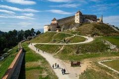 Rasnov Citadel from Brasov , Romania inside court view stock image