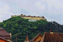 Rasnov Citadel in Romania. Stock Photo