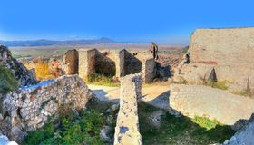 Rasnov citadel ruins Royalty Free Stock Photo