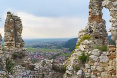 Rasnov citadel ruins, Brasov, Romania Royalty Free Stock Photos