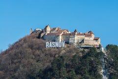 Rasnov citadell, Brasov län, Rumänien Royaltyfri Fotografi