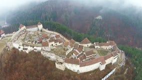 Rasnov citadell, flyg- sikt lager videofilmer