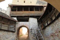 Rasnov citadell (väggen) Arkivfoto