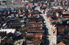 Rasnov city Stock Photography