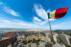 Rasnov cytadela od Brasov, Rumunia inside sądu widok Obrazy Royalty Free