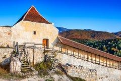 Rasnov fästning, Transylvania, Rumänien royaltyfria bilder