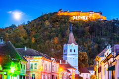 Rasnov fästning, Transylvania, Rumänien royaltyfria foton