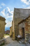 Rasnov-Festung nach innen lizenzfreie stockfotos