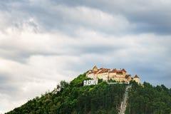 Rasnov Festung in Rumänien stockfoto