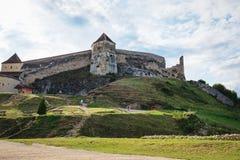 Rasnov Festung in Rumänien lizenzfreie stockfotografie
