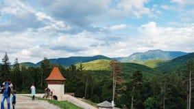 Rasnov Festung in Rumänien stockbild