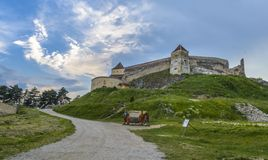 Rasnov forteca obraz royalty free