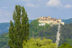 Rasnov forteca, Transylvania Rumunia obrazy stock