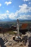 Rasnov fortecy szczyt Zdjęcia Stock