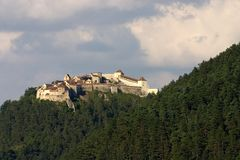 Rasnov Fortress. Near Brasov City in Romania Stock Images