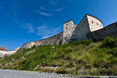 Rasnov Fortress. View of ancient Rasnov Fortress, Brasov county, Romania Stock Photo
