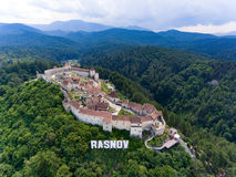 Rasnov Fortress from above Stock Images