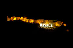 Rasnov Fortress in Brasov County, Romania Stock Photo