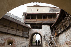 Rasnov Fortress. Entrance in medieval fortress Rasnov, Romania royalty free stock image