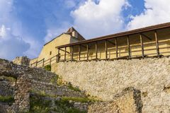 Rasnov fortress inside royalty free stock photos