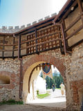 Rasnov fortress - main gate Royalty Free Stock Photos