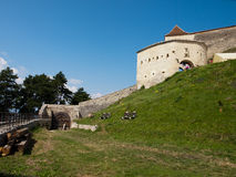 Rasnov fortress - main gate Stock Photography