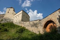 The Rasnov Fortress, Romania stock photography