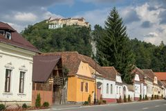 The Rasnov Fortress, Romania royalty free stock photos