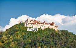 Rasnov fortress ruins , Transylvania, Romania. Royalty Free Stock Image