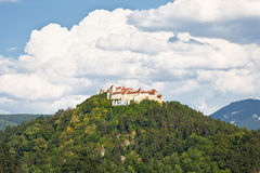 Rasnov fortress ruins , Transylvania, Romania. Stock Photo
