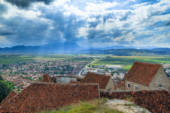 Rasnov Fortress. Situated near Brasov city, a tourist attraction Royalty Free Stock Image
