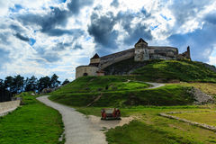 Rasnov Fortress. Situated near Brasov city, a tourist attraction Royalty Free Stock Images