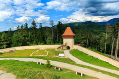 Rasnov Fortress. Situated near Brasov city, a tourist attraction Stock Image