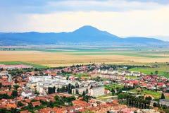 Rasnov, hills and sky, Romania Royalty Free Stock Photos