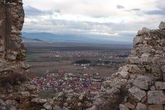 Rasnov kasztel w Rumunia Fotografia Royalty Free