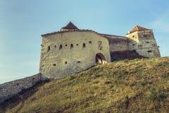 Rasnov medeltida citadell, Rumänien arkivbild
