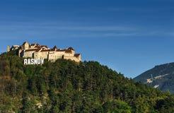 Rasnov medeltida fästning, Transylvania, Rumänien fotografering för bildbyråer