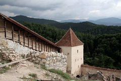 rasnov średniowieczny miasteczko Obraz Royalty Free